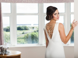 Bride at the Arklow Bay Bridal Suite