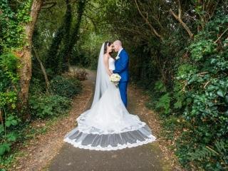 Arklow Bay Hotel Bride & Groom together on walk way