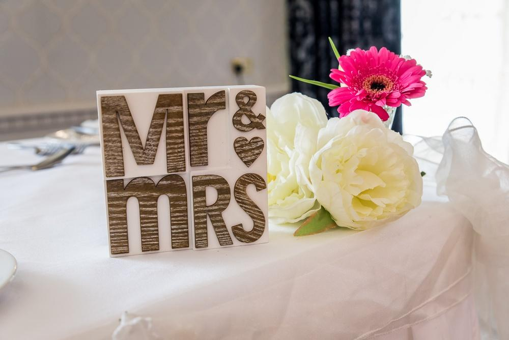 Arklow Bay Hotel Mr & Mrs Table