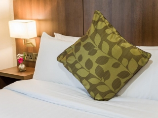 Arklow Bay Hotel bedroom pillow detail