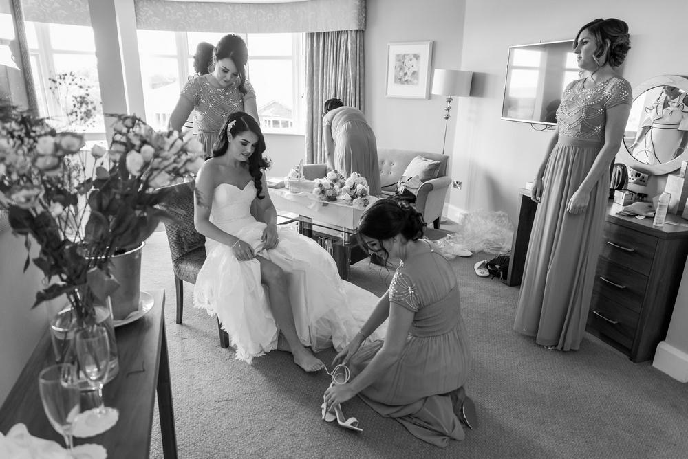 Arklow Bay Hotel bridemaids in bridal suite
