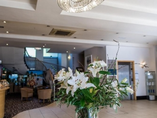 Arklow Bay Hotel lobby with flowers