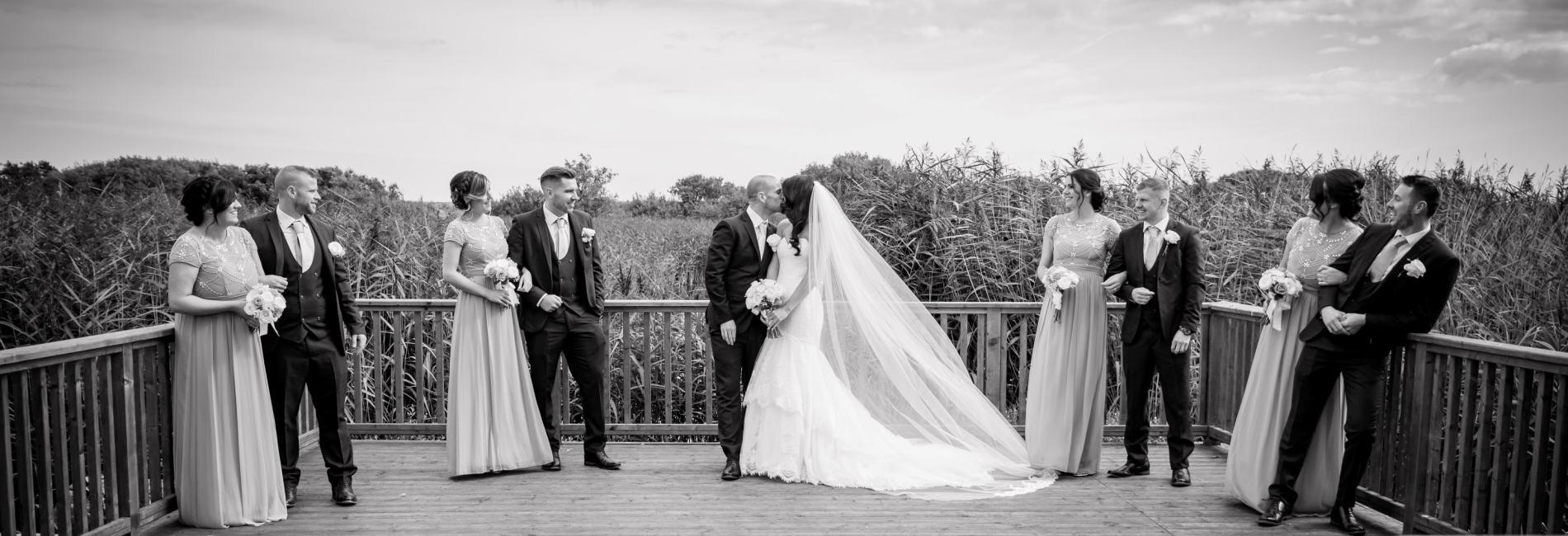 Arklow Bay Hotel Wicklow wedding group on decking