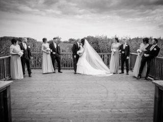 Arklow Bay Hotel wedding group on decking